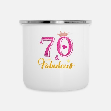 70th Birthday 70 Fabulous Queen Shirt 70th Birthday Gifts - Camper Mug