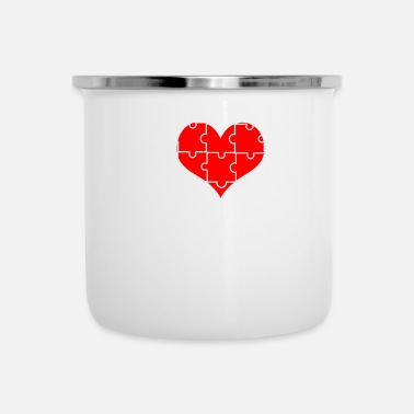 Puzzle Puzzles Gifts - I Love Puzzles - Camper Mug