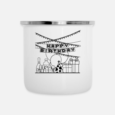 Birthday Happy Birthday to you special Gift Idea - Enamel Mug