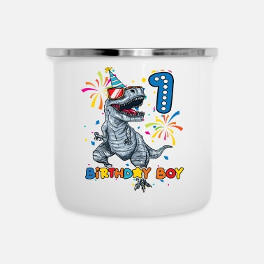 Birthday FIRST BIRTHDAY - 1 YEAR OLD TREX - Enamel Mug