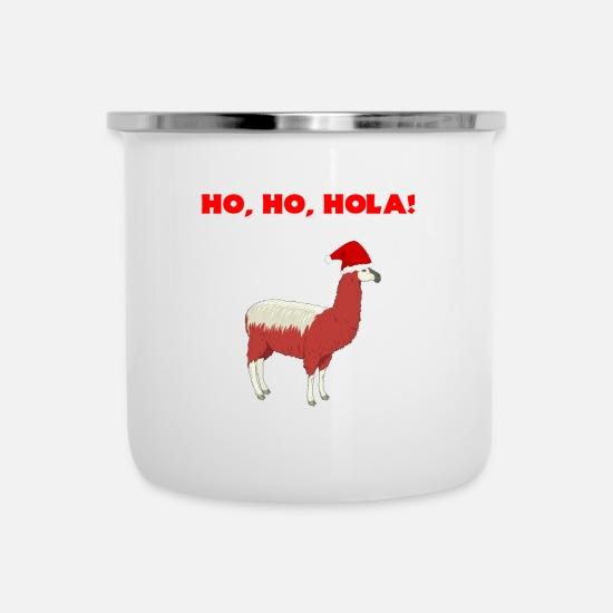 Llama Christmas.Funny Quote Christmas Llama Tee Camper Mug White