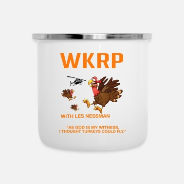 Grade Thankgiving First Annual WKRP Turkey drop with - Camper Mug
