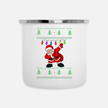 Coffee Dabbing Santa Ugly Christmas Sweater - Camper Mug