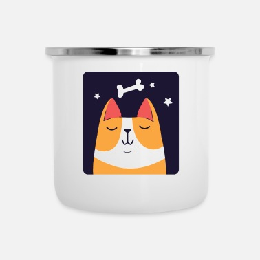 Bone Dreaming Corgi Dog - Enamel Mug