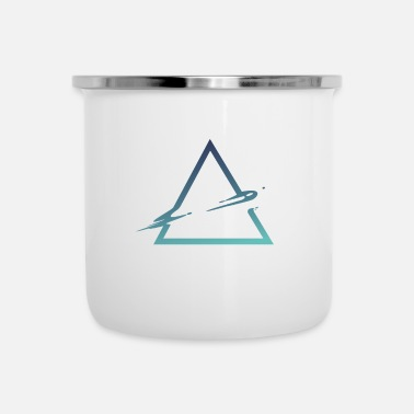 Wet triangle cool triangle space style - Enamel Mug