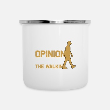 Funny Running Walking - Your - Enamel Mug