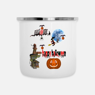 Occasion Happy Halloween and celebrate the occasion - Enamel Mug