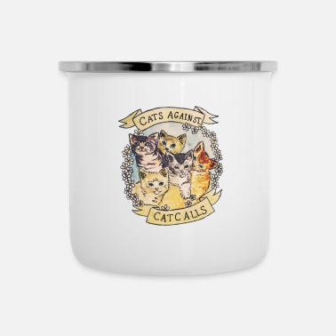 Against CATS AGAINST - Enamel Mug