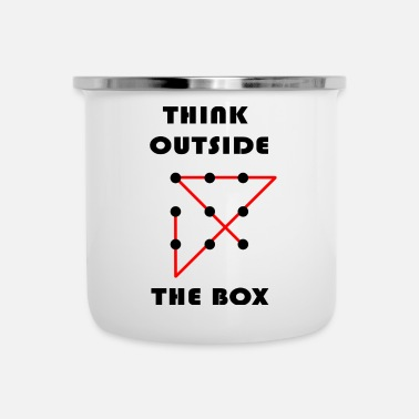 Lateral Thinker Think Outside The Box 9 Punkte Raetsel Geschenk - Enamel Mug