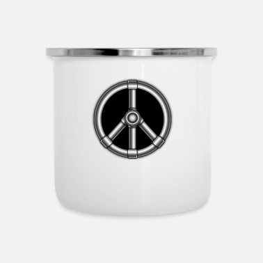 Black Metal hippie metal black - Camper Mug