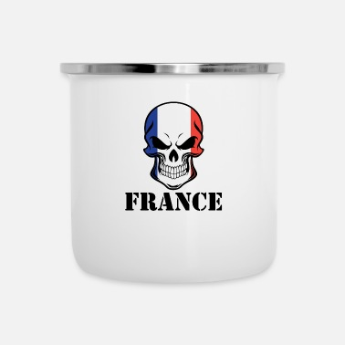 French Flag French Flag Skull France - Camper Mug