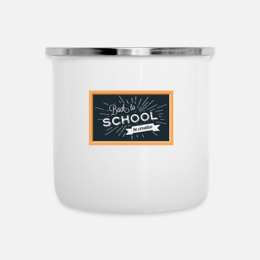 Back To School Back To School Background - Enamel Mug