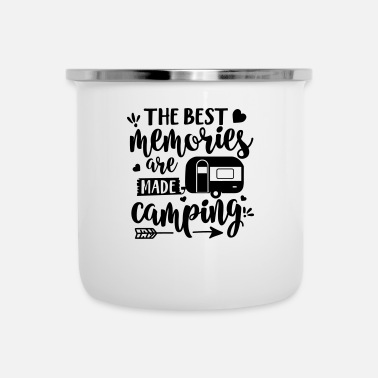 Boarders The Best Memories Are Made Camping - Enamel Mug