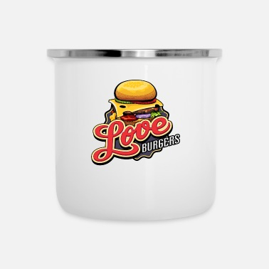 Lovely Love Burgers - Enamel Mug