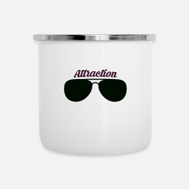Attractive Sunglass Attraction - Enamel Mug
