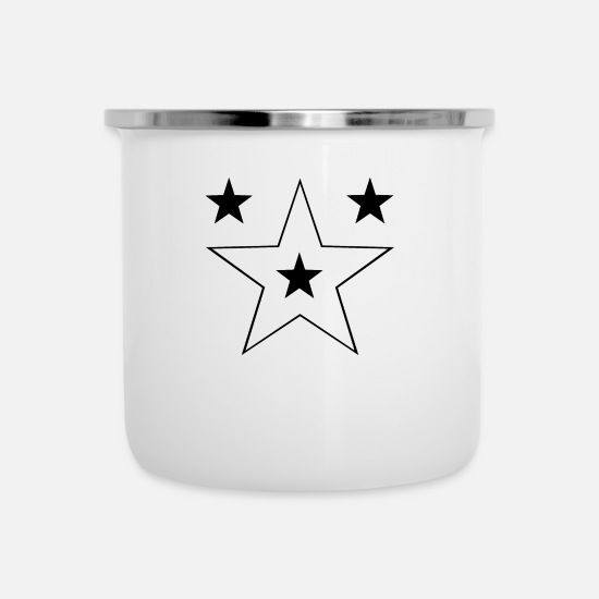 Skies Mugs & Drinkware - Star Sky Gift shining falling star shooting Star - Enamel Mug white