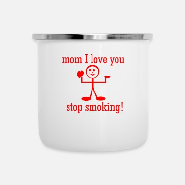 Prohibition the child prohibits his mother from smoking - Camper Mug