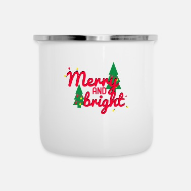 Merry Merry and Bright - Enamel Mug