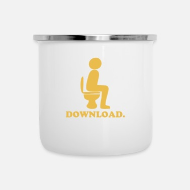 Download Downloading Poop - Enamel Mug