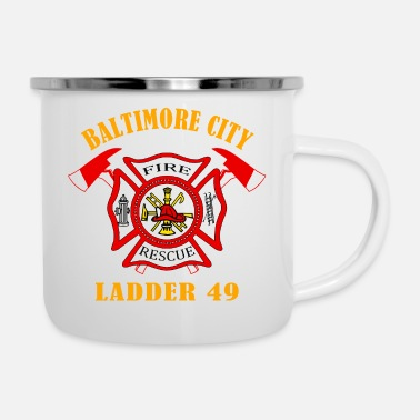 FIRE RESCUE BALTIMORE CITY - Enamel Mug