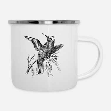 Branch Bird on Branch - Enamel Mug