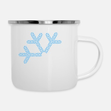 Winter Snow Gift Ski Snowman Sledge Winter - Enamel Mug