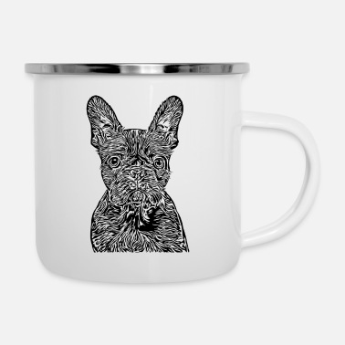 Dog Breed Dog breed dog black - Enamel Mug