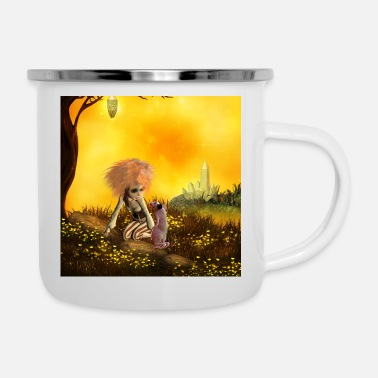 Mythology Cute little fairy with rat - Camper Mug