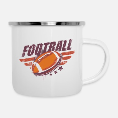 Ball Football Super Bowl Sports Violence - Enamel Mug