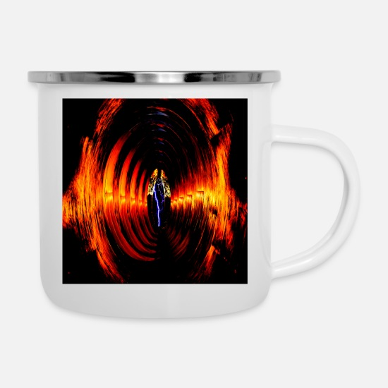 Tube Mugs & Drinkware - Tubes lightning - Enamel Mug white