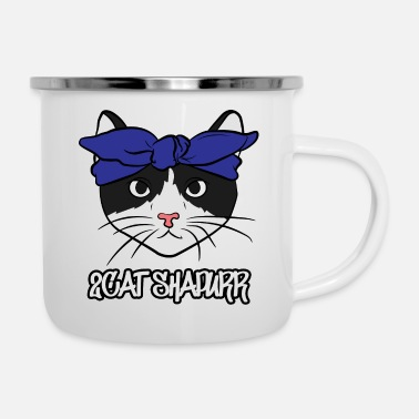 Mc 2Cat Shapurr Gangster Rap Cat - Enamel Mug