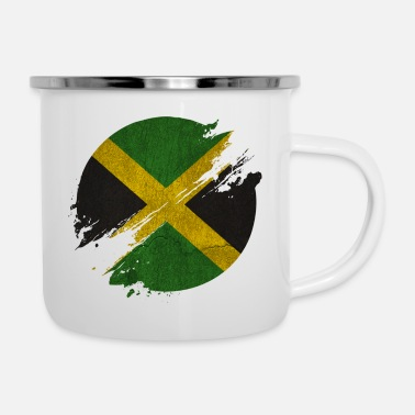 Spanish Jamaica circle blurry vintage / gift - Enamel Mug