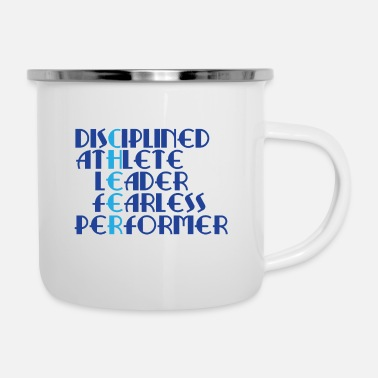 Cheerleading Tee For Cheerleaders Saying  - Enamel Mug