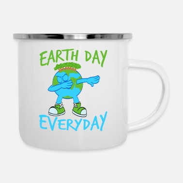 Politics Earth Day Dabbing Earth Blast Is A Graphic Design - Enamel Mug