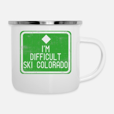 Helmet A Nice Quote Tee For You I'm Difficult Ski - Enamel Mug
