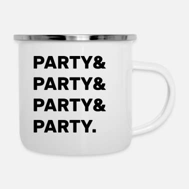 Party Party & Party - Enamel Mug