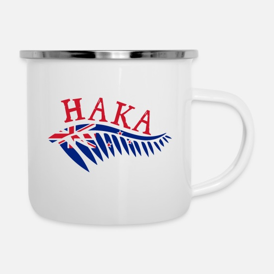 5b827ca54b1 Maor Haka Silver Fern New Zealand Flag - Gift Idea Enamel Mug ...