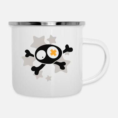 Asterisk Skull with asterisks - Enamel Mug