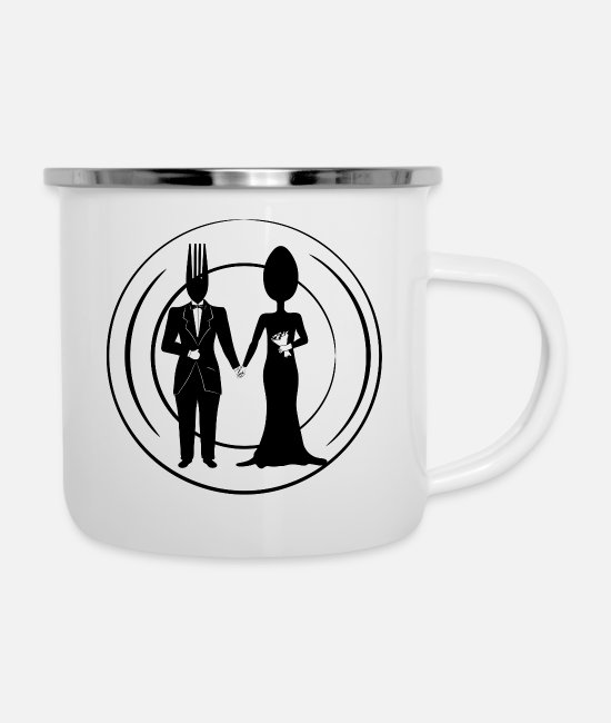 Husband Mugs & Cups - Wedding Meal - Enamel Mug white