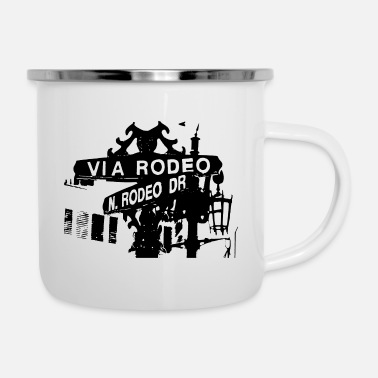 Rodeo Dr (cups and mugs) - Enamel Mug