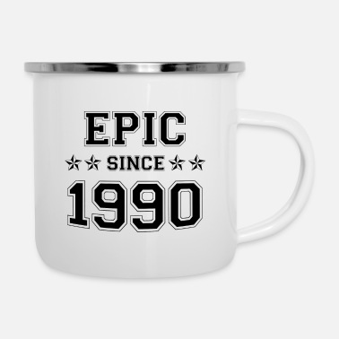 Since (BRITHDAY GIFT) EPIC SINCE 1990 BEST OUTFIT EVER - Enamel Mug