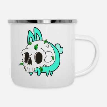 Hare Bunny with skull mask - Enamel Mug