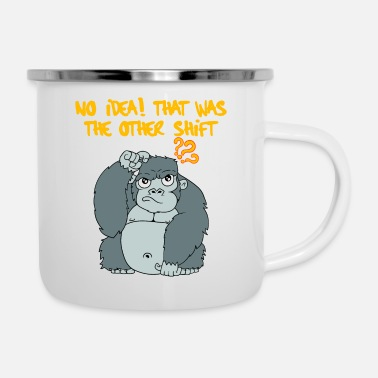 Banana No Idea! That Was The Other Shift Tshirt Design - Enamel Mug