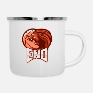 Court Basketball Defend till the End - Enamel Mug