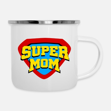 Mom super mom - Enamel Mug