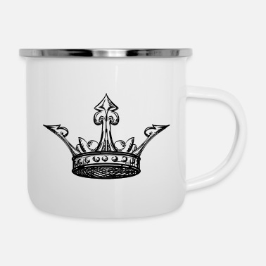 Tatoo Shape hand draw royal crown king vip vector image - Enamel Mug