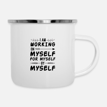 Self Improvement Personal Growth and Development Self Improvement - Enamel Mug