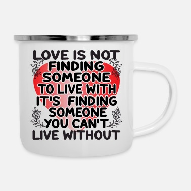 Question Mark LOVE IS NOT - Enamel Mug