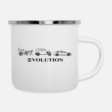 Automobile 3volution of Automobile - Enamel Mug