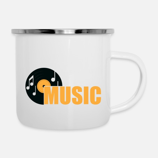 Melody Mugs & Drinkware - MUSIC - Enamel Mug white